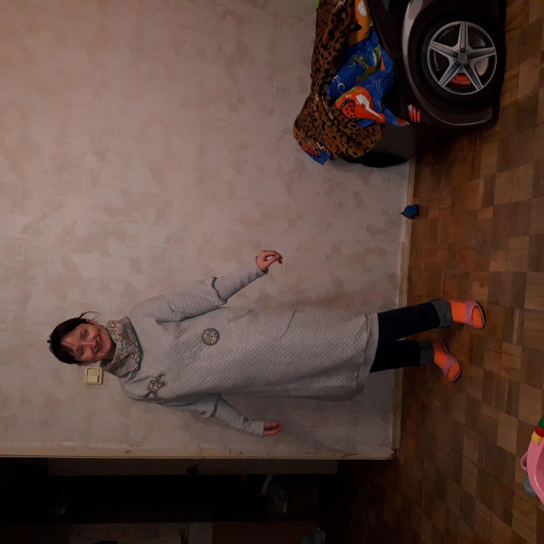 "Photo №3 к отзыву покупателя Nataliya Ustyugova о товаре Платья: Платье "" Серый кот"""