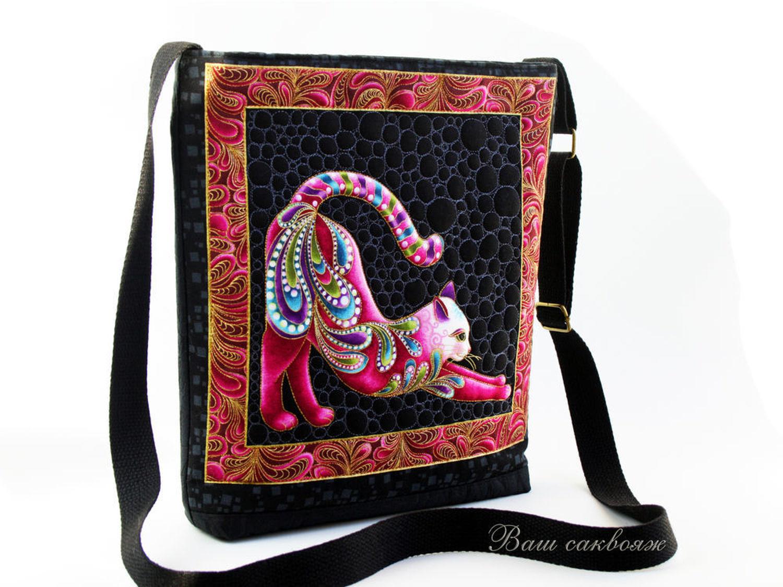 Photo №1 к отзыву покупателя Tarkina Irina о товаре Сумка через Плечо, серия Радужные Коты розовая