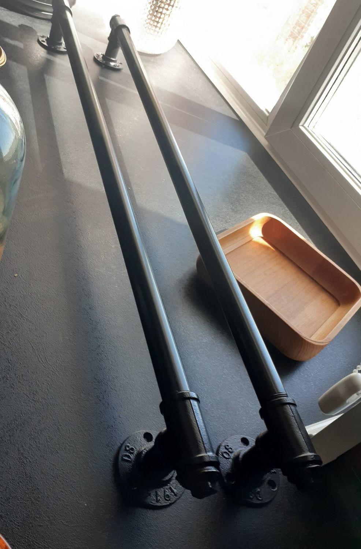 Photo №1 к отзыву покупателя Valera Krepitsa о товаре Дверная ручка из труб в индустриальном стиле, лофт
