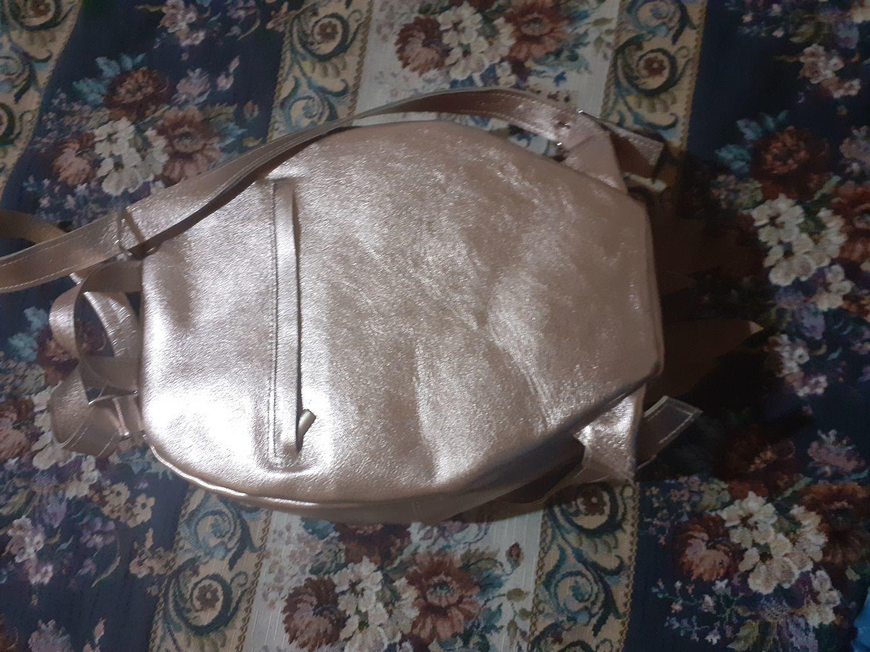 Фото №4 к отзыву покупателя Софи о товаре Рюкзак Крылья Лотос розовое золото