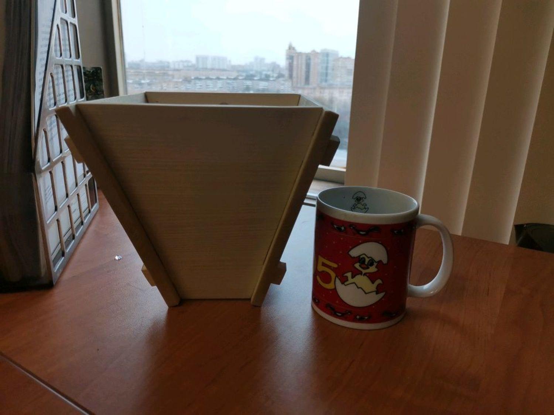 Photo №3 к отзыву покупателя Elena о товаре Форма для Пасхи деревянная резная Пасочница большая