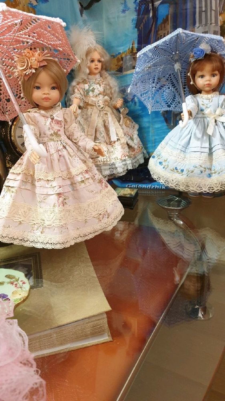 Фото №2 к отзыву покупателя Иванова Светлана о товаре Зонты вязаные ажурные для кукол размером 28-35см, разные цвета