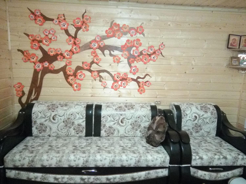 """Photo №1 к отзыву покупателя Olga о товаре Панно из дерева на стену """"Цветущая Сакура"""""""