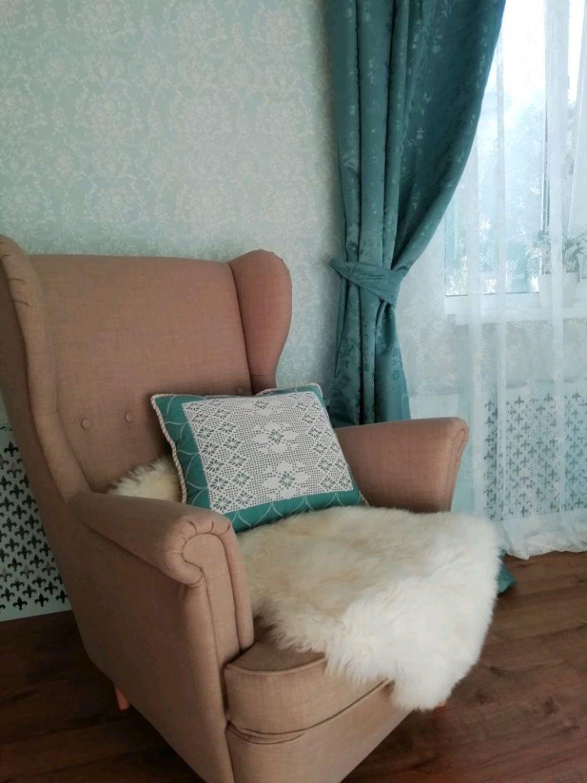 Фото №1 к отзыву покупателя Бочкарева Наталья о товаре Бирюзовая подушка с кружевом