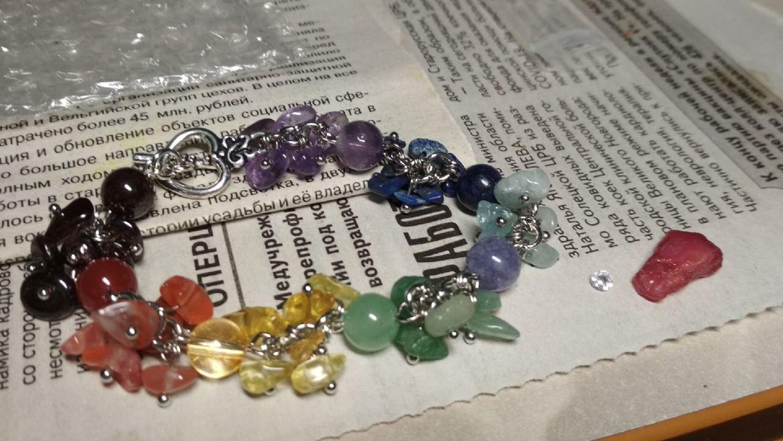Фото №5 к отзыву покупателя Ирина о товаре Браслет ЧАКРЫ, натуральные камни, высокое качество. и еще 2 товара