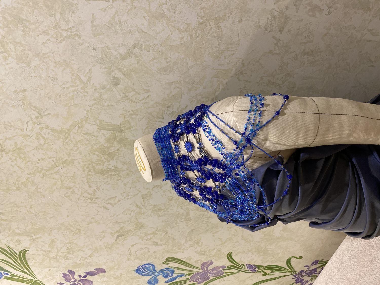 Photo №2 к отзыву покупателя Lana о товаре Колье портупея на плечи из камней и бисера