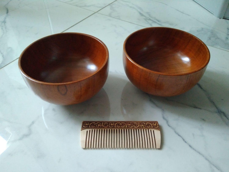 Photo №1 к отзыву покупателя Ekaterina о товаре Пиала деревянная Унаби D14 H8. Деревянная миска