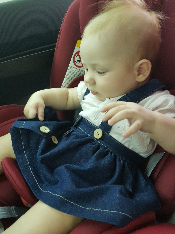 Фото №1 к отзыву покупателя Юля о товаре Сарафан детский из джинсовой ткани