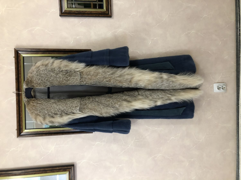 Фото №4 к отзыву покупателя Елена о товаре Шуба норковая Nafa джинс с рысью и еще 1 товар