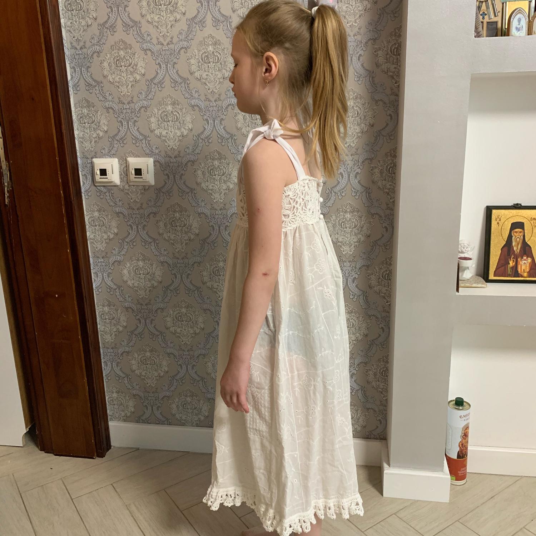 Фото №2 к отзыву покупателя Garkavy Uriy о товаре Платье для девочки, шитье, кружево ручной вязки