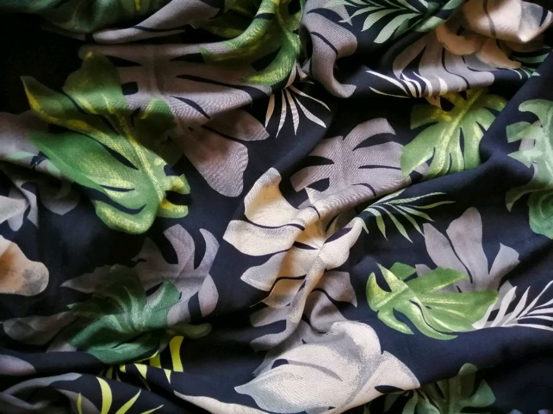 Фото №1 к отзыву покупателя Бессолицына Дарья о товаре Штапель Монстера зеленая на черном