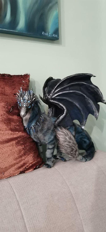 Фото №1 к отзыву покупателя Оболенский Эдуард о товаре Интерьерная кукла: дракон Darkling