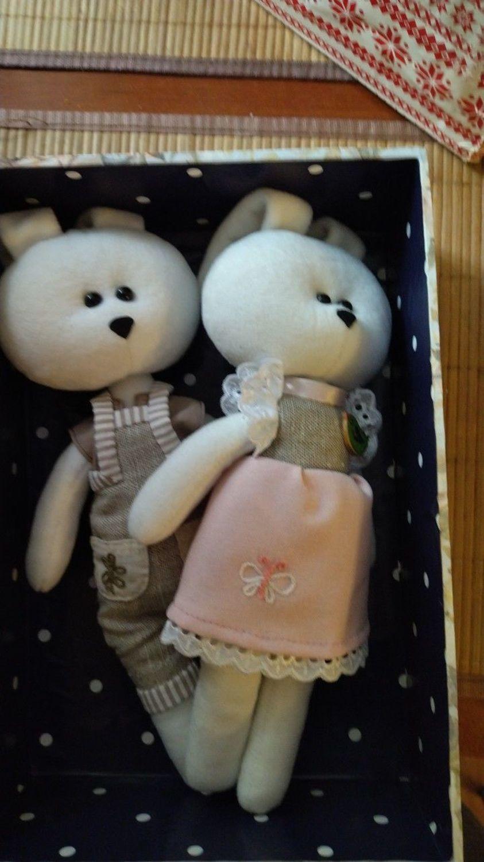 Фото №1 к отзыву покупателя Савельев Макар о товаре Мягкие игрушки: Парочка Заяц и Зая