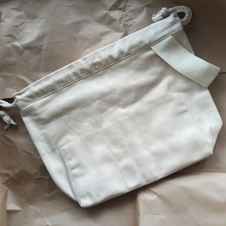 Фото №1 к отзыву покупателя Olga о товаре Сумка для вязания с кольцом для маркеров и карманами Project bag