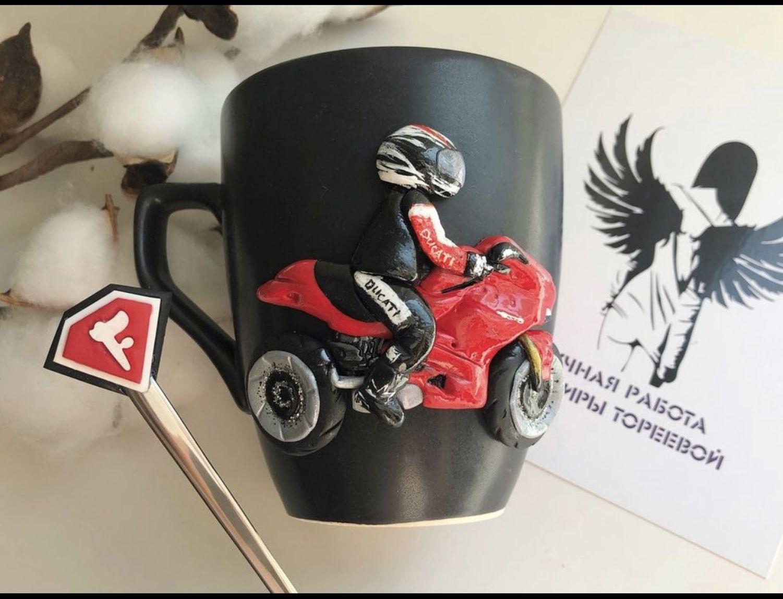 Фото №1 к отзыву покупателя Татьяна Сотникова о товаре Подарок мотоциклисту Кружка по фотографии