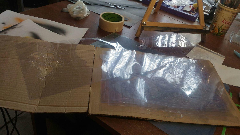 Фото №1 к отзыву покупателя Юлия о товаре Трафарет (маска) - текстура трещины. и еще 13 товаров