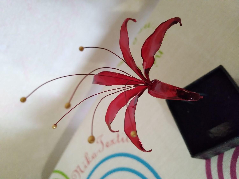 Фото №1 к отзыву покупателя Алина о товаре Заколка готический красный ликорис