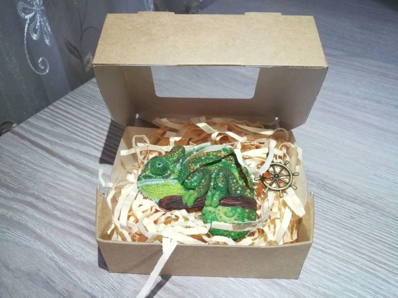 Фото №1 к отзыву покупателя Мария о товаре Значок: Брошь-хамелеон