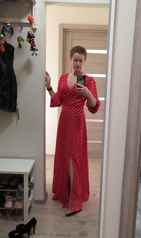Фото №2 к отзыву покупателя Шкатулка Фурузе о товаре Летнее платье в горох