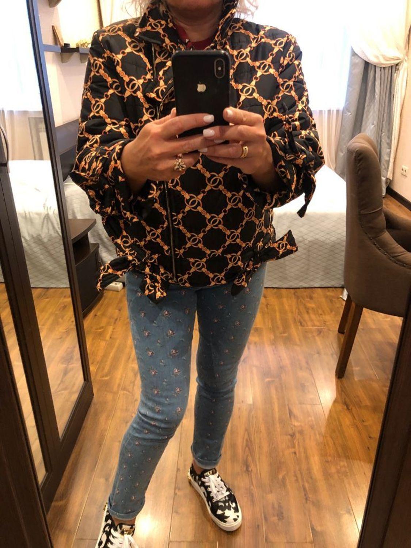 """Photo №2 к отзыву покупателя Natalya о товаре Куртка-бомбер """"TOMMY"""" ручная стёжка."""