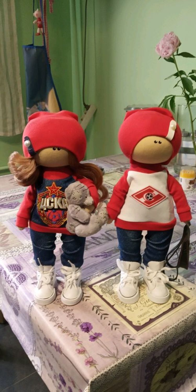 Фото №3 к отзыву покупателя Надежда Мурманцева о товаре Текстильная кукла ручной работы пара