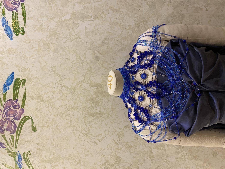 Photo №1 к отзыву покупателя Lana о товаре Колье портупея на плечи из камней и бисера