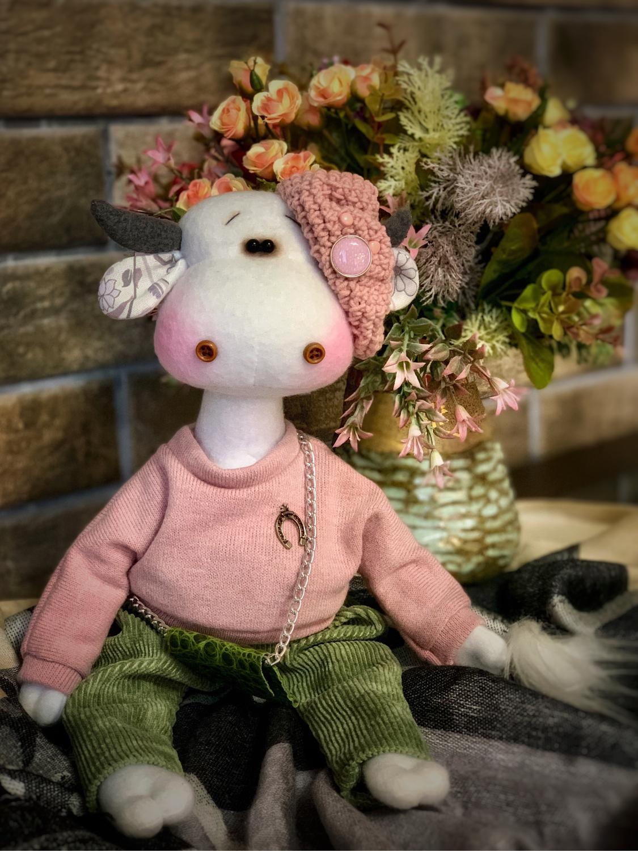 Photo №1 к отзыву покупателя Svetlana о товаре Текстильная корова.Символ 2021 года