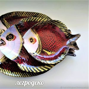 Тарелки Рыбы от Елены Филатовой