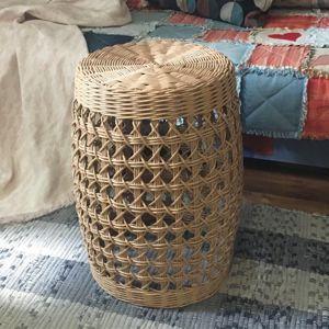 Пуфы-столики плетеные