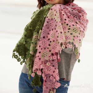 Женские шали, платки, шарфы крючком