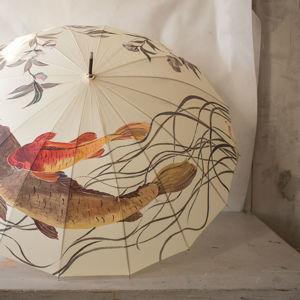 Зонты с росписью Птицы и Рыбы