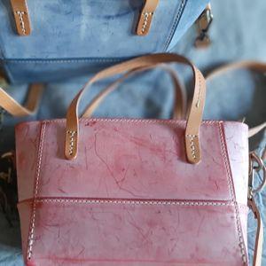 Кожаная сумка и рюкзак!