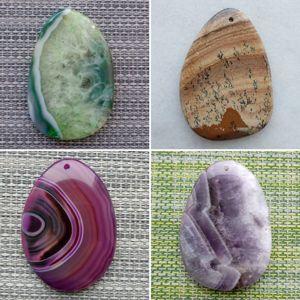 Каменные кулоны и подвески