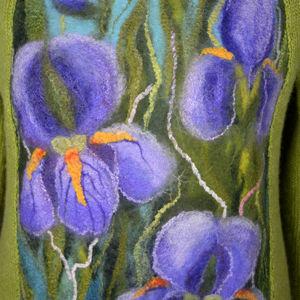 Вязаные комбинированные свитера.