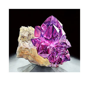 Акварельные картины с минералами