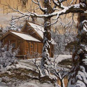 Зимние пейзажи на бересте