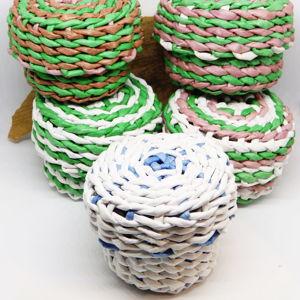 Коробочки, изделия из бумажной лозы