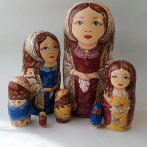 Матрешки Русские Купчихи, Барышни