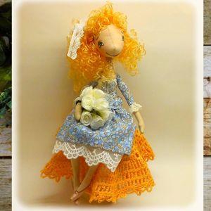 Текстильные куколки на каркасе