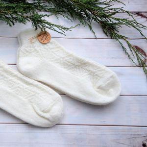 Теплые пуховые и шерстяные носочки