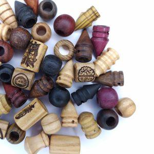 деревянные  бусины для дред