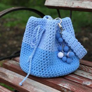 Вязаные сумки-торбы