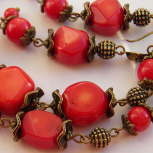Красные, рыжие, коралловые