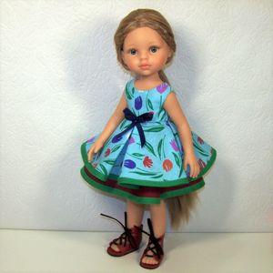 Тканевые платья из хлопка для кукол