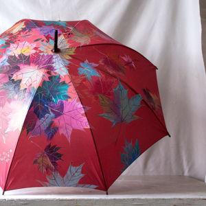 Зонты с росписью Осенние листья