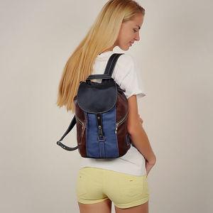 Трехцветные кожаные рюкзачки