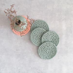 Салфетки вязаные из шнура