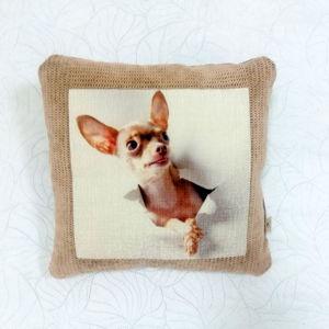 Подушки с изображением собак.