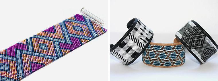 Мозаичное плетение, Пейот фото