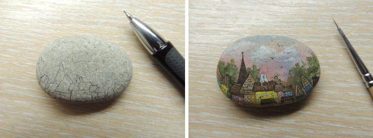 Роспись по камню фото